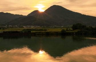 二上山の夕景