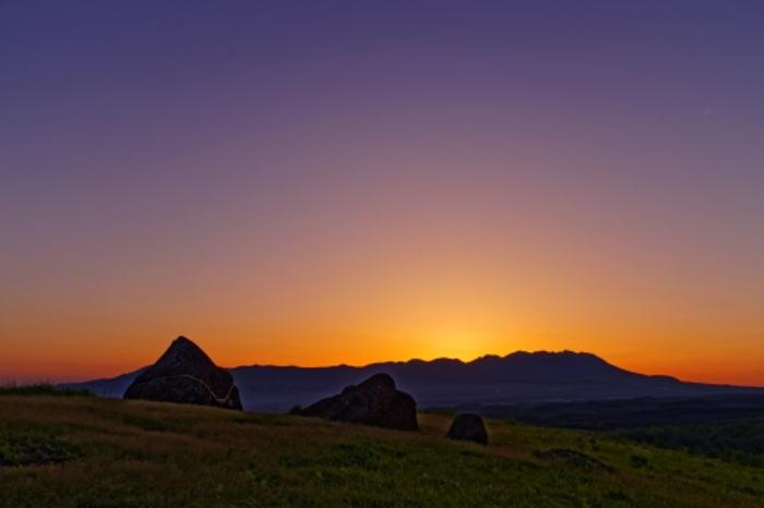 押戸石の夕日