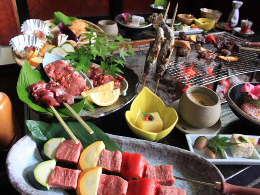 白山麓三種の肉の味くらべ