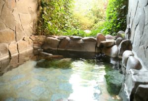 贅沢な気分に浸れる桧風呂